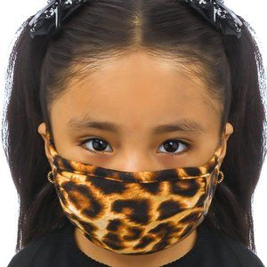 Reusable Kids Leopard Print Face Mask - One Size